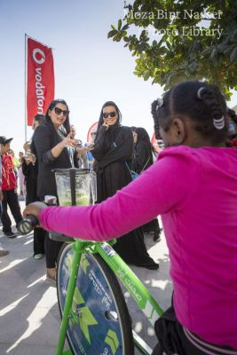 HH Sheikha Moza participates in National Sport Day activities in Education City