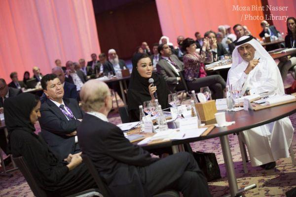 صاحبة السمو الشيخة موزا تشارك في منتدى العلماء العرب المغتربين