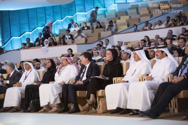 HH Sheikha Moza attends the Annual Research Conference 2016