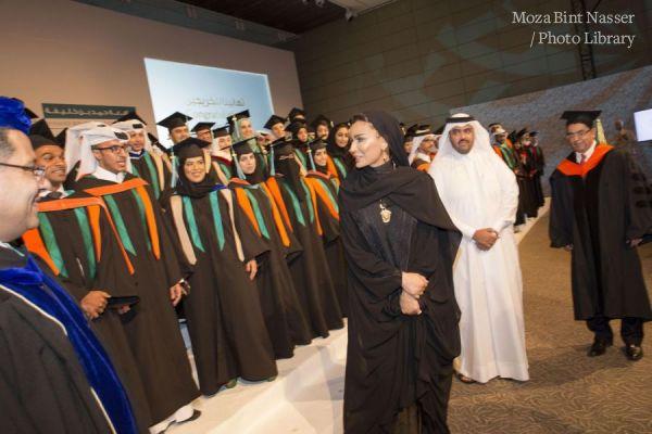 صاحبة السمو الشيخة موزا تشهد حفل تخريج طلبة جامعة حمد بن خليفة