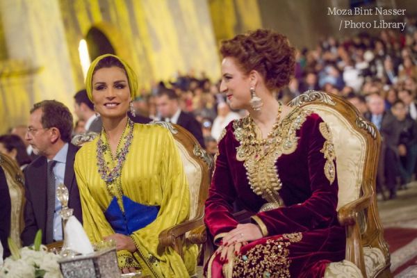 HH Sheikha Moza at opening of Fez music festival