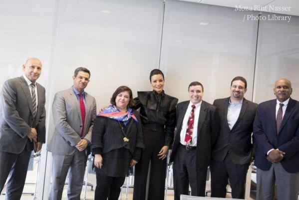 HH Sheikha Moza visits Harvard University and Massachusetts General Hospital