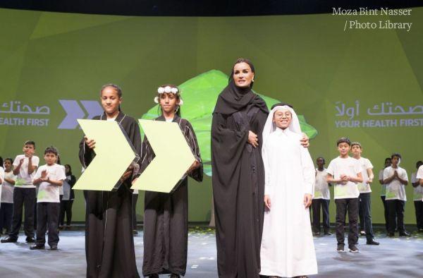 """صاحبة السمو الشيخة موزا تشهد الاحتفال بمرور 5 أعوام على انطلاق حملة صحتك أولا"""""""""""