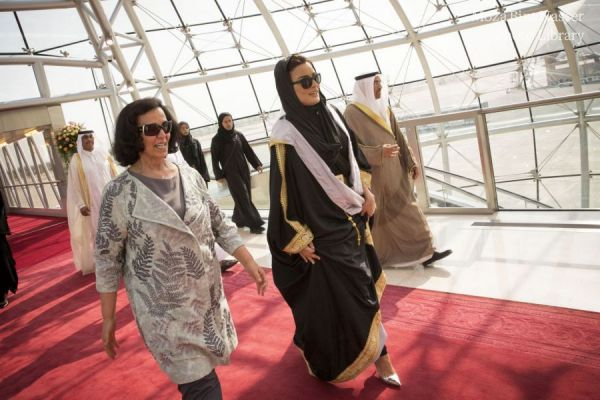 HH Sheikha Moza bint Nasser attended the opening of Jaber Al Ahmad Cultural Center.