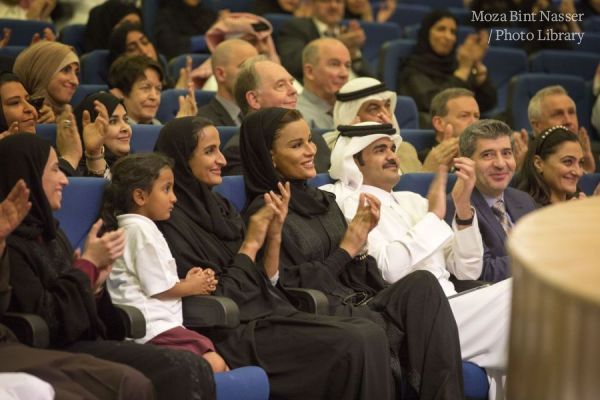 HH Sheikha Moza Participates in Qatar Foundation Schools Celebration of Qatar National Day
