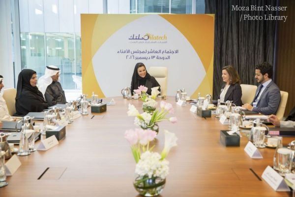 HH Sheikha Moza at Silatech board meeting