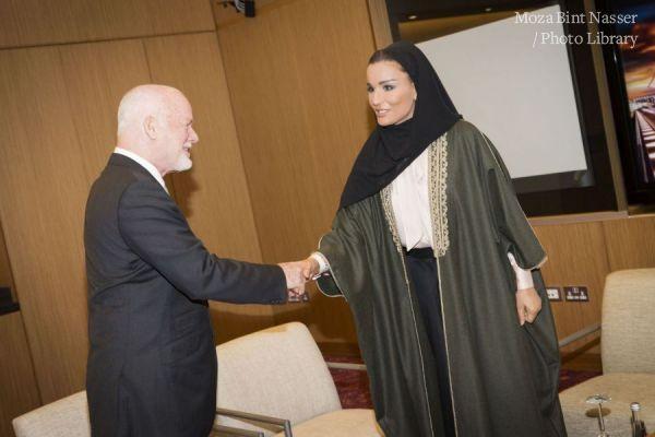 HH Sheikha Moza meets H.E. Mr. Peter Thomson