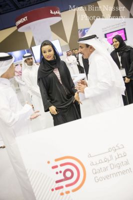 صاحبة السمو والشيخة هند تزوران مؤتمر ومعرض قطر للاتصالات وتكنولوجيا المعلومات