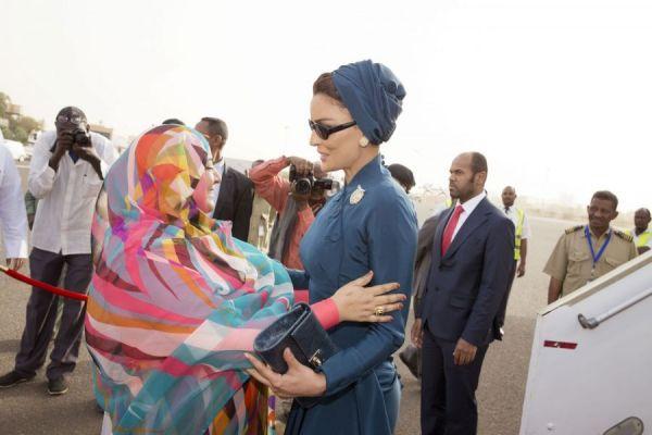 صاحبة السمو تصل إلى السودان