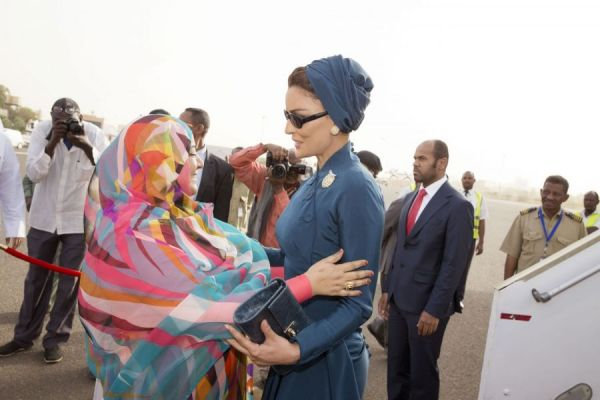 HH Sheikha Moza arrives to Sudan