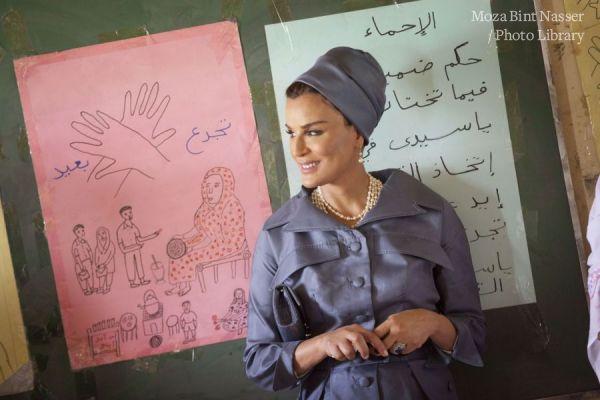 HH Sheikha Moza Visits Alternative Learning Center in Khartoum