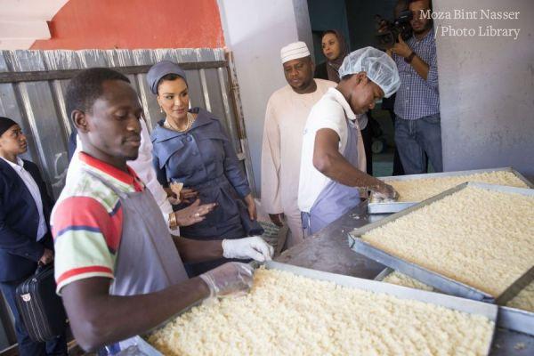 HH Sheikha Moza visits a silatech beneficiary