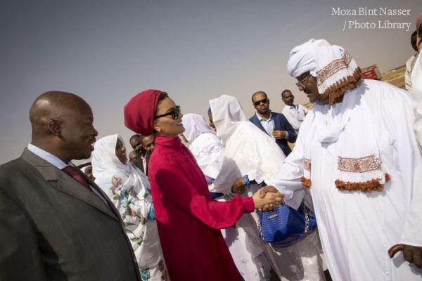HH Sheikha Moza arrives to north kordofan