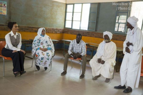 HH Visits Alternative Learning Center in El Obied