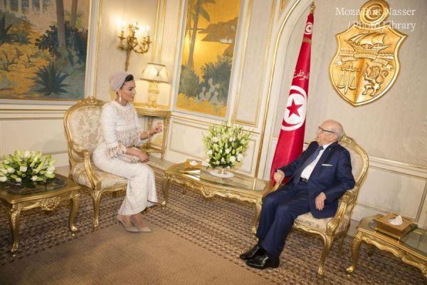 صاحبة السمو تلتقي بالرئيس التونسي