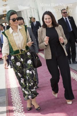 HH Sheikha Moza departures Tunisia