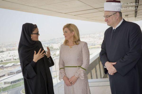 HH Sheikha Moza meets president of Croatia