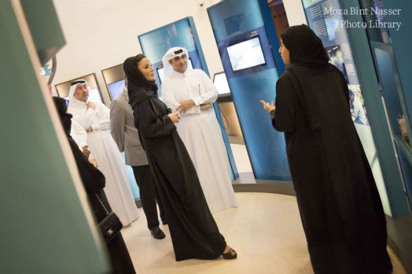 HH Sheikha Moza inaugurates the DNA exhibition at Msheireb Museums