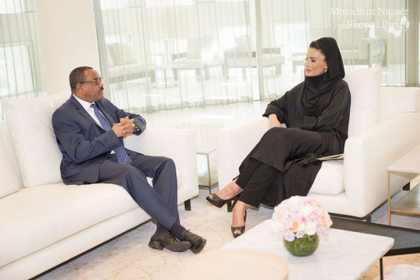 HH Sheikha Moza meets with Prime Minister of Ethiopia