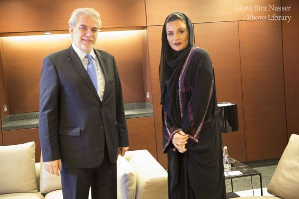 HH Sheikha Moza meeting with the European Commissioner