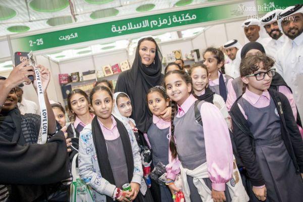 HH Sheikha Moza visits the 28th Doha International Book Fair
