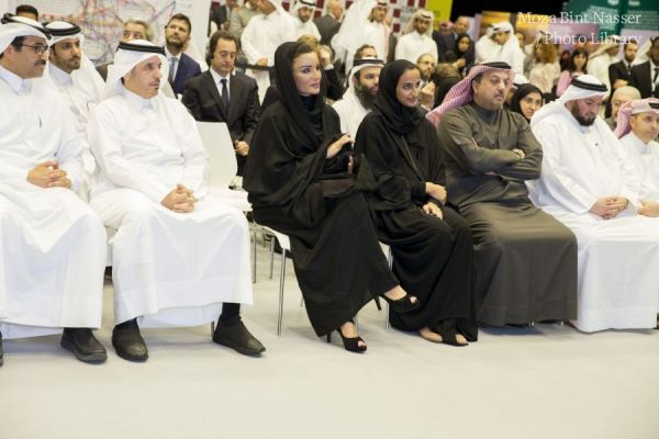 "HH Sheikha Moza and HE the Prime Minister attend Qatar Foundation's ""Thriving Together"" event"