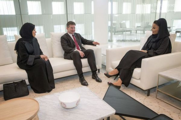 HH Sheikha Moza meets with UNGA President