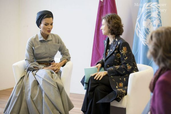 HH Sheikha Moza participates at joint Education Above All and UNESCO high-level event in Paris