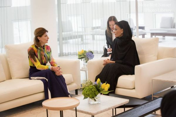 HH Sheikha Moza meets with Wife of President of Ukraine