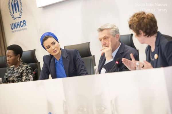 HH Sheikha Moza participates in joint Education Above All and UNHCR event in Geneva