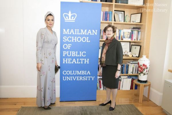 HH Sheikha Moza launches research partnership between Qatar Foundation International and Columbia University