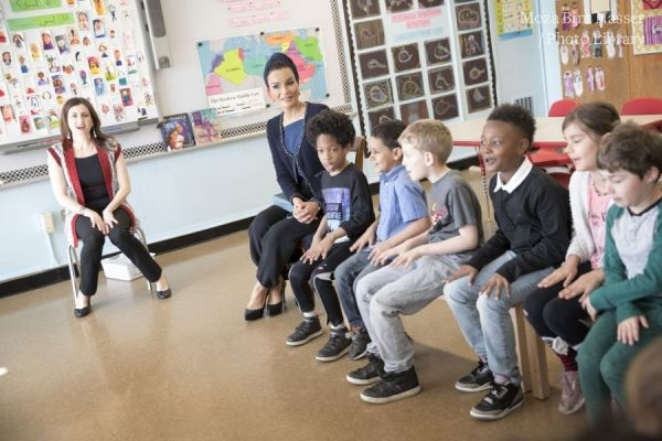 HH Sheikha Moza visits QFI-partner elementary school in Brooklyn, New York