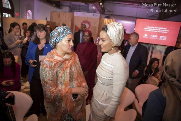 HH Sheikha Moza participates in WISE@NY education forum