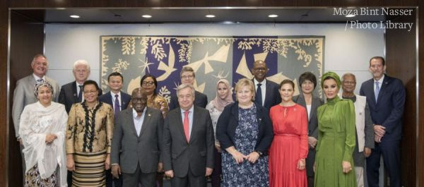 HH Sheikha Moza participates in United Nations' Sustainable Development Goals Advocacy Meeting
