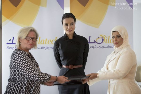 HH Sheikha Moza witnesses key agreements with Silatech in New York