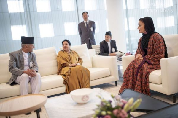 HH Sheikha Moza meets with President of Nepal