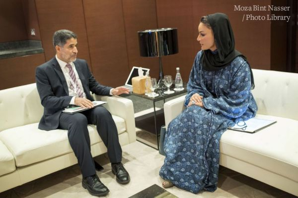 HH Sheikha Moza meets with WHO Regional Director for the Eastern Mediterranean