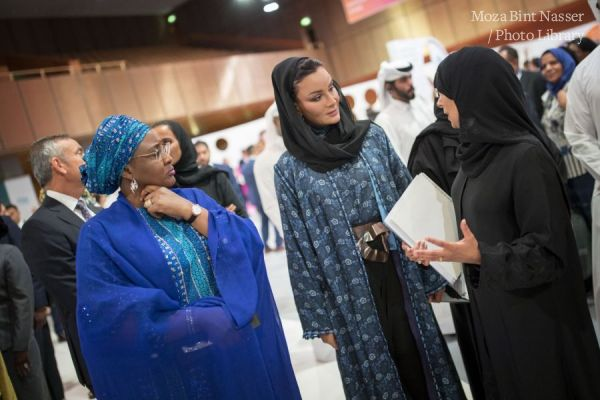 HH Sheikha Moza tours Innovation Hub at WISH 2018