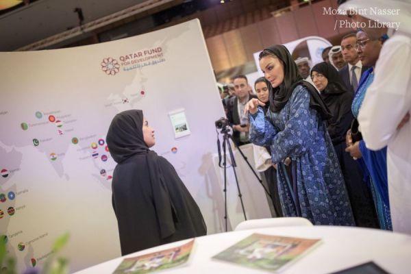 HH Sheikha Moza tours Innovation Hub at WISH 2018