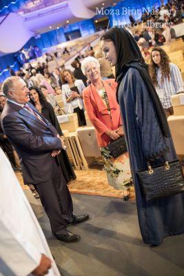 صاحبة السمو الشيخة موزا تشهد الجلسة الختاميه لمؤتمر ويش ٢٠١٨