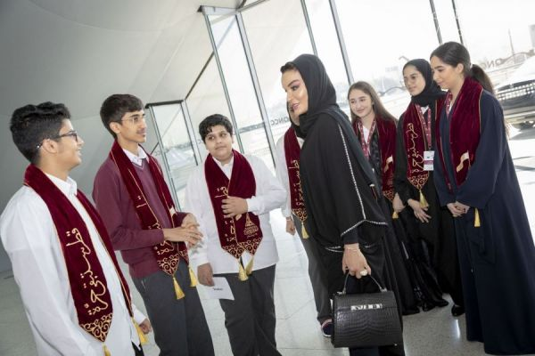 HH Sheikha Moza attends QF Schools' Qatar National Day celebrations