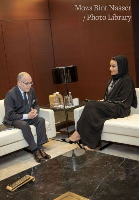 HH Sheikha Moza meets with Argentine Minister of Foreign Affairs