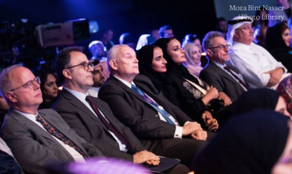 HH Sheikha Moza attended debut relaunch of Doha Debates