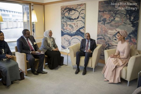 HH Sheikha Moza meets with Prime Minister of Somalia