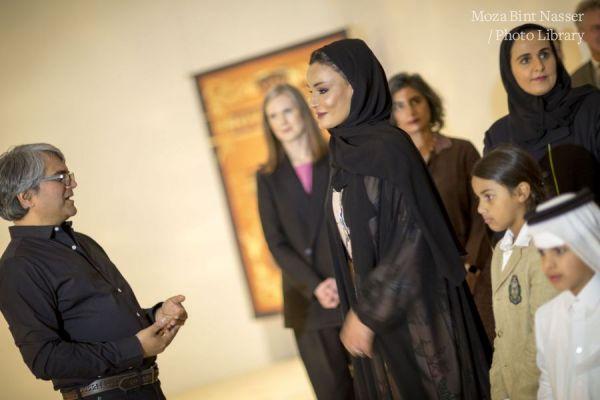 صاحبة السمو الشيخة موزا تحضر افتتاح معرضين يحتفيان بالفن الهندي في المتحف العربي للفن الحديث
