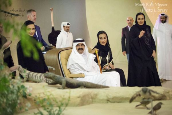 Their Highnesses tour the National Museum of Qatar