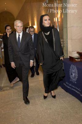 صاحبة السمو الشيخة موزا تشهد احتفال جامعة جورجتاون في قطر بإنجازاتها البحثية العالمية