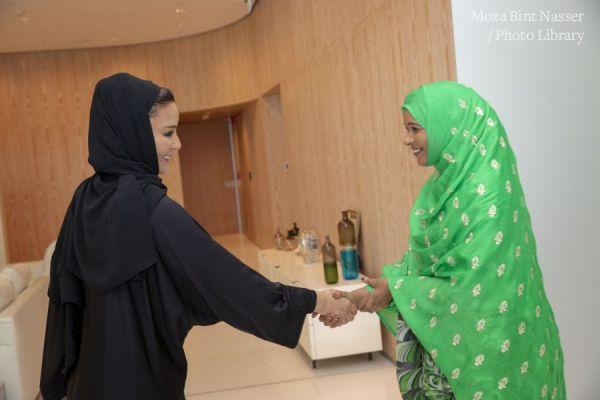 صاحبة السمو الشيخة موزا تجتمع برئيسة المجلس الفيدرالي الأثيوبي
