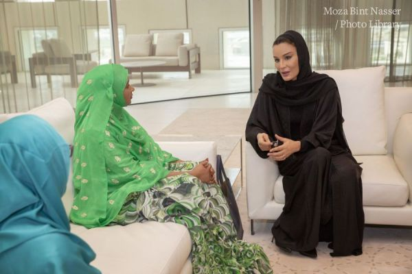 HH Sheikha Moza meets with Speaker of Ethiopian House of Federation