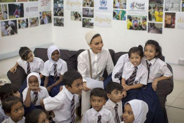 HH Sheikha Moza visits refugee children in Education Above All projects in Malaysia